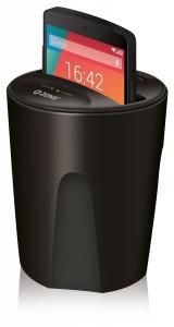 Qi-Ladegerät - Der Wireless-Charger-fuers-Auto-im-getraenkehalter